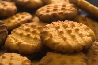 Peanut butter cookies with espresso powder
