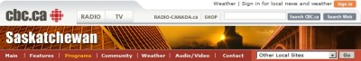 Radio Interview on CBC Saskatchewan