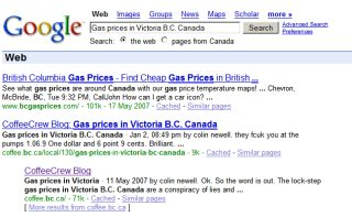 More Gas prices in Victoria B.C. Canada - taking it up the wazoo