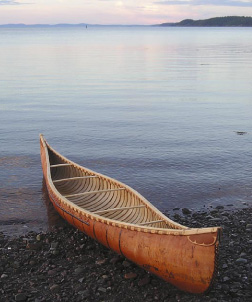 Pierre Trudeau's Birchbark Canoe
