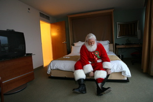 It`s tough being Santa Claus