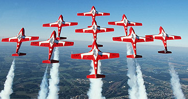 Snow Birds Canada military aerobatic jet team - why?