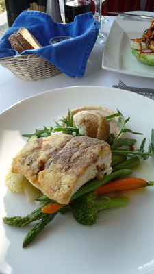 Crusted Halibut at the Point No Point Restaurant