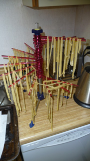drying pasta with colin and andrea