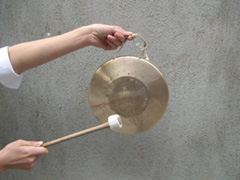 Listen for the gong to signify the beginning of the meditation.