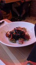 Dining out - Squid and squid-ink pasta at Vis-a-vis on Oak Bay