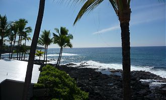 View from the balcony at the Hale Kona Kai