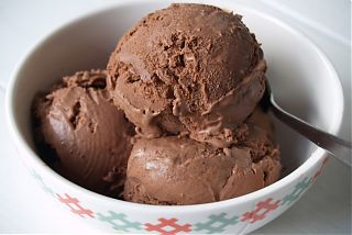 Simple deep dark chocolate ice cream
