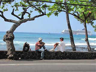 Alii Drive - good eats, people and ocean watching